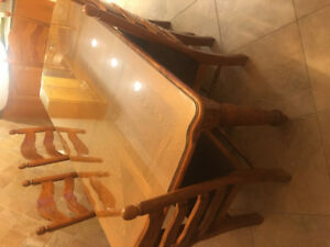 Solid Wood Table w/ 6 Chairs