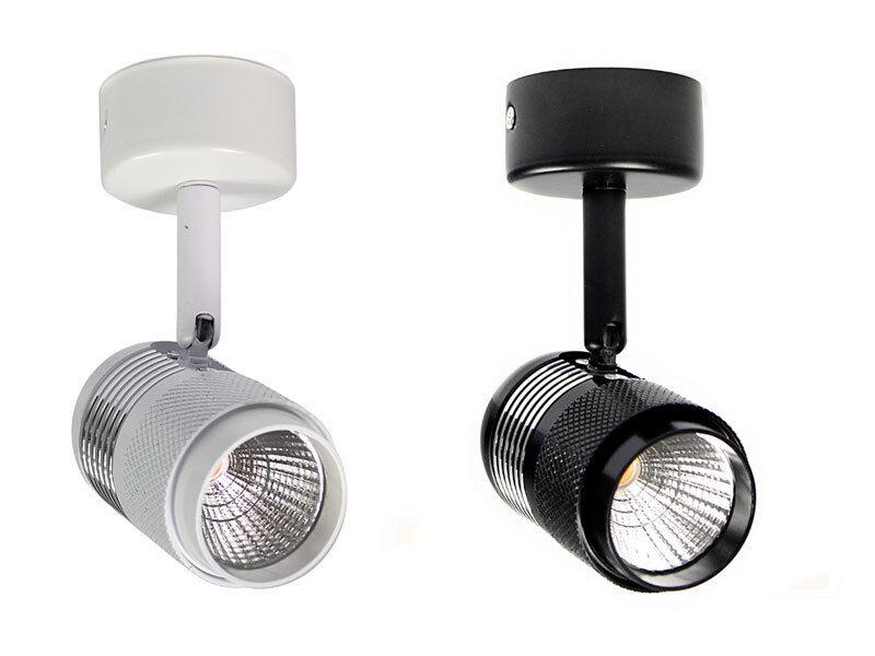 Proiettore led cob 10 watt faretto con staffa orientabile da soffitto applique