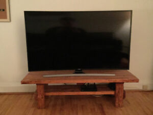 Handmade Solid Wood Natural Finish TV Stand