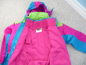 Gently Used Girl's Windbreaker With Zip-out Liner - Size 12 London Ontario image 2