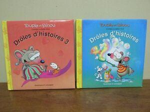 2 Livres Drôles d'histoires Toupie et Binou 86 pages chacun
