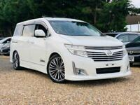 NISSAN ELGRAND TWIN PWR DOORS::CAMERAS::SUNROOFS::UK STOCK::MUST SEE
