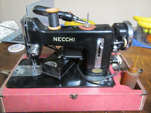 Vintage Necchi Nova Sewing Machine from Italy - Motor Runs Perfe