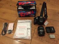 Canon Rebel T1i camera — mint condition, full kit