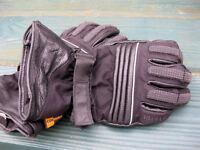 motorbike gloves and glo vest