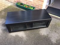 Tv unit / tv cabinet / tv stand - wood and glass.