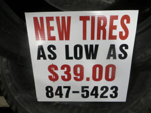 4 NEW TIRES INSTALLED AND BALANCED TAX IN STARTING AT $230.00