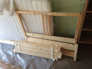 Pine Twin Ikea Bed With Mattress