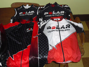 Men Polar Cycling kit 2 x shirts 1 x tank 1 x jacket small