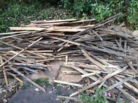 *** FREE FIREWOOD *** Old timber roofing battens