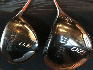 PING i20 Driver & 3 Woods Upgraded X-Stiff Shafts!!!