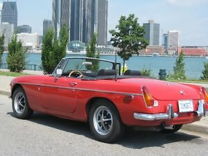 1971 MGB with Overdrive and a split rear bumper