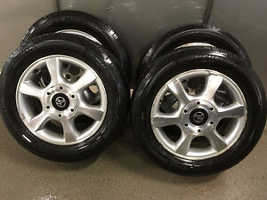 All seasons Michelin Harmony tires 16 in on Alloy Toyota rims Regina Regina Area image 1