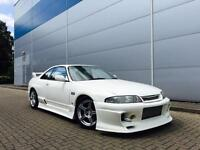 Nissan SKYLINE R33 2.5 Turbo Manual + WHITE + GTR STYLING