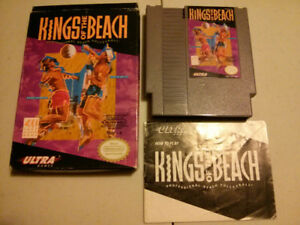 Nintendo NES video gameKings of the Beach with box and manual