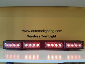 Wireless tow truck safety light, construction warning strobes