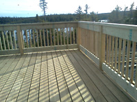 DECK AND FENCE WEATHER IS HERE