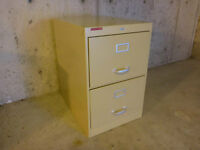 Filing cabinet, steel, 2 drawers