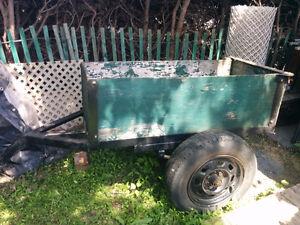 Remorque à tracteur à gazon ou VTT