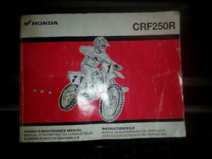 Honda CRF250R Dirt bike Owner's Maintenance Service Manual