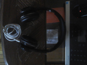 Black Web Headphones  awesome  condition