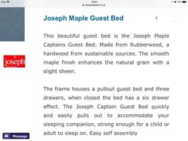 Joseph captain and guest bed