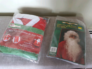 FREE! SANTA suit and wig....unopened