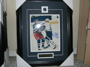 tie domi autographed 8x10 fight photo framed and matted