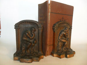 Book Ends The Thinker 1920's