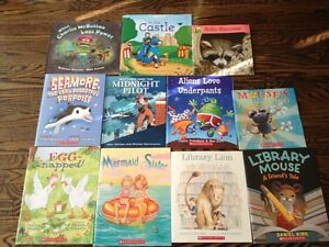 11 books-Midnight pilot, Seamore, Library lion and more