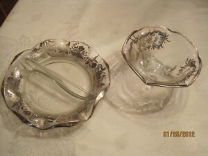 Silver plated candy dishes