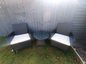 Rattan Garden Table And Chairs Bistro Set