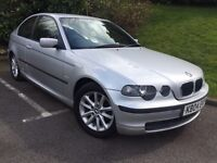 2004 BMW 3 SERIES 316ti ES COMPACT * LOW MILES* AUTOMATIC* 12 MONTHS MOT* SERVICE HISTORY*