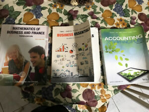Books for sale Acc 110, BAM 101 and QNM 103