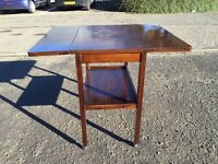Vintage Oak Drop Leaf Tea Trolley/ Table