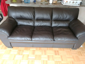 Faux Leather 3 Seat Couch