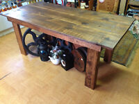 Hand crafted pine harvest 6foot table