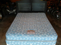 Queen Mattress, Boxspring, Headboard & Frame
