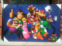Super Mario Character Line-Up Hardmount Poster
