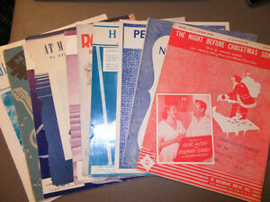 VINTAGE SHEET MUSIC FOR ELECTRIC, STEEL & PLECTRUM GUITAR