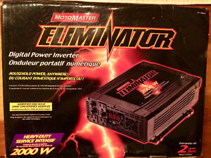 MotoMaster Eliminator Mobile Power Inverter, 2000W + Wire cable