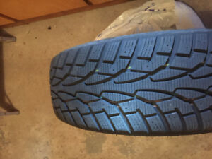 Set of 4 winter Tires on steel rims.