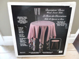 """Decorators Choice Wood Accent Table -20"""" Dia.x 25.5"""" Tall - NEW"""