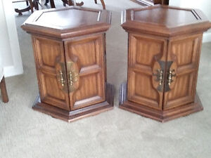 2 Hexagon Solid wood Tables
