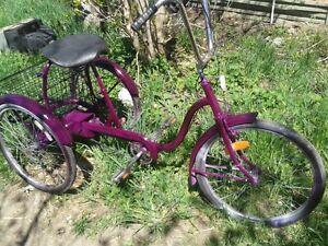 3 speed 3 wheel bike