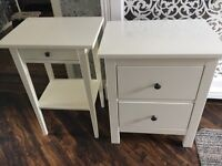 Pair of cabinets drawers bedside tables