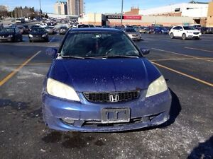 Blue Honda Civic Si 2004 Coupe 2 Doors Automatic