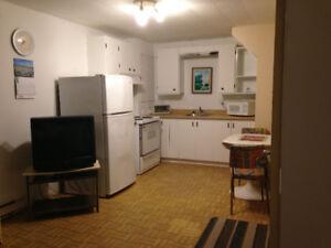 Sorel-Tracy 3-1/2 meublé sous-sol à louer