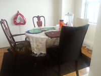 Moving out sale for dinning table with 6 chairs