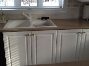 Countertops and sink